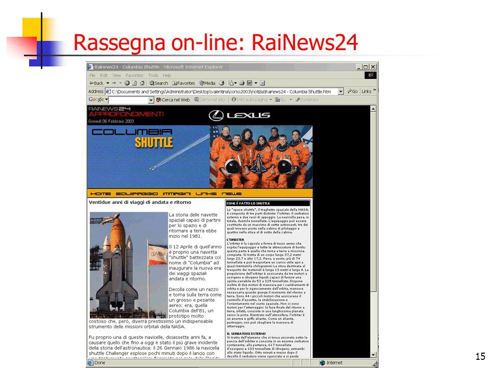 Rassegna on-line: RaiNews24