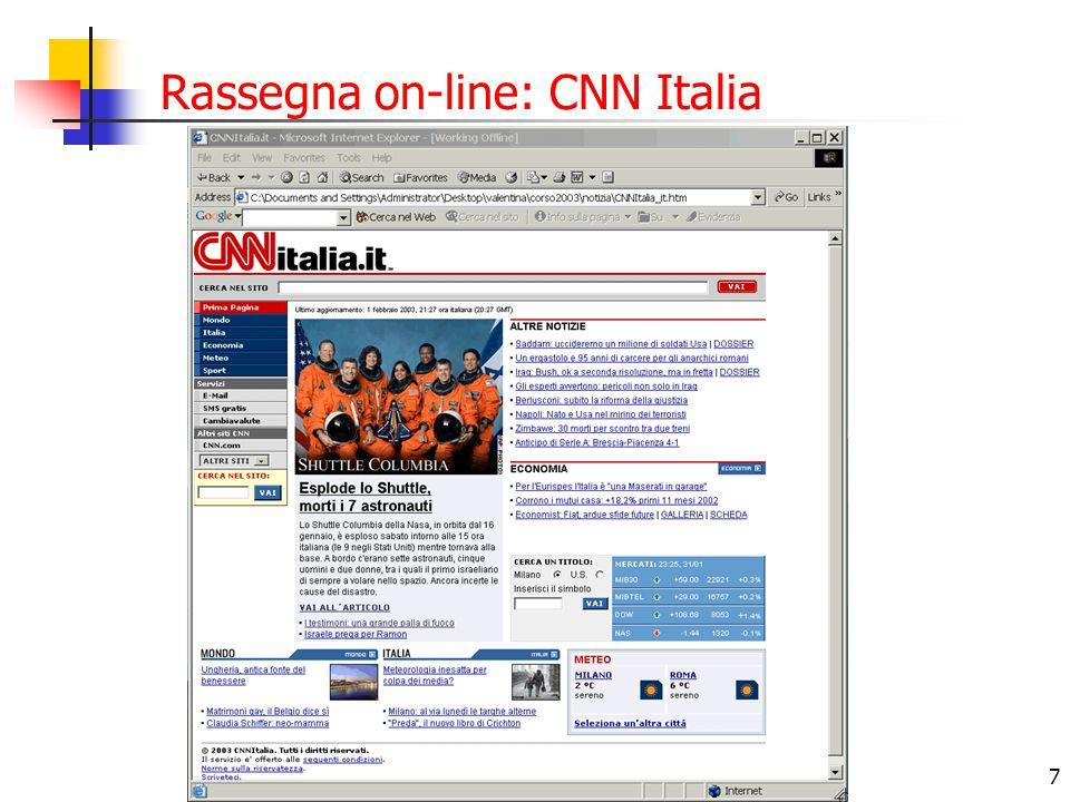 Rassegna on-line: CNN Italia