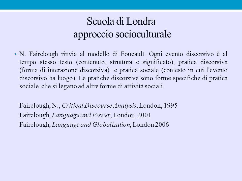 Scuola di Londra approccio socioculturale