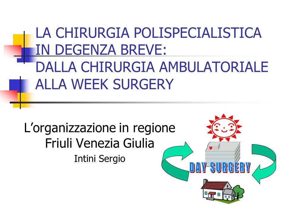 L'organizzazione in regione Friuli Venezia Giulia Intini Sergio