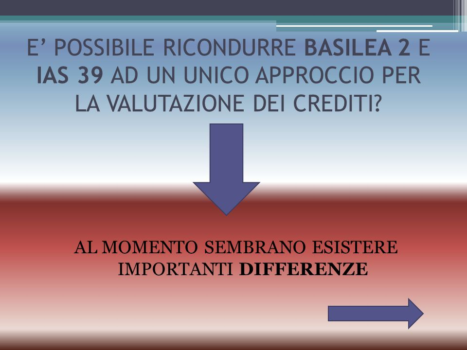 AL MOMENTO SEMBRANO ESISTERE IMPORTANTI DIFFERENZE