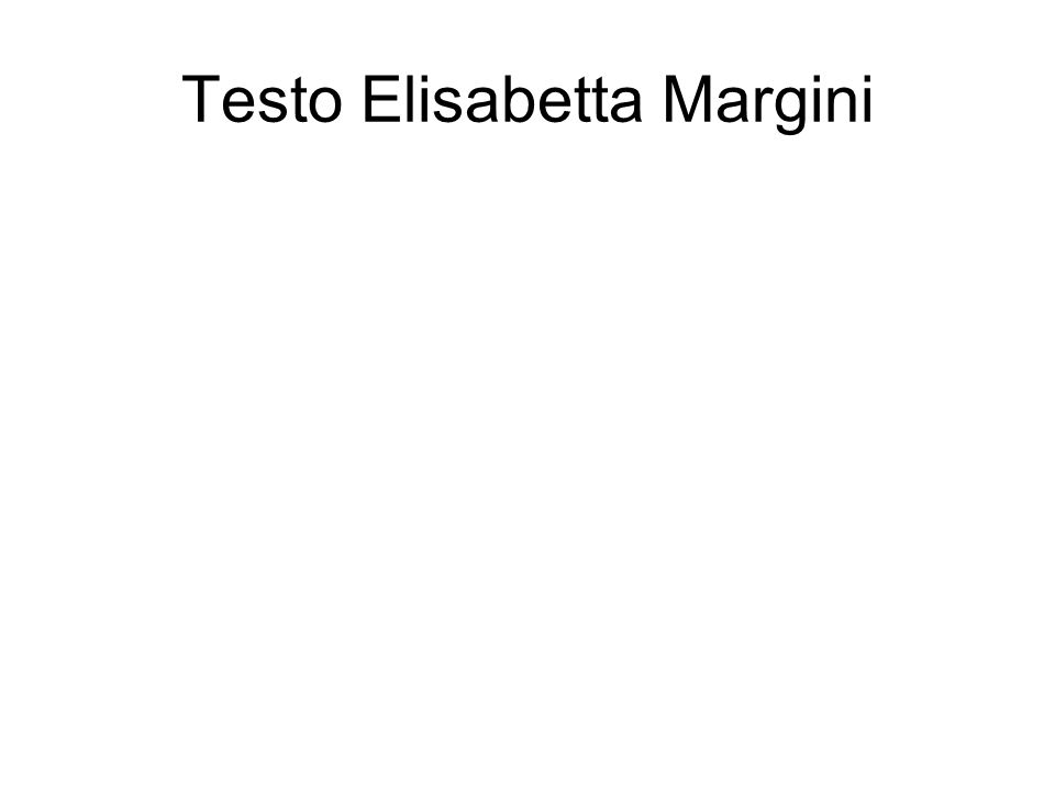 Testo Elisabetta Margini