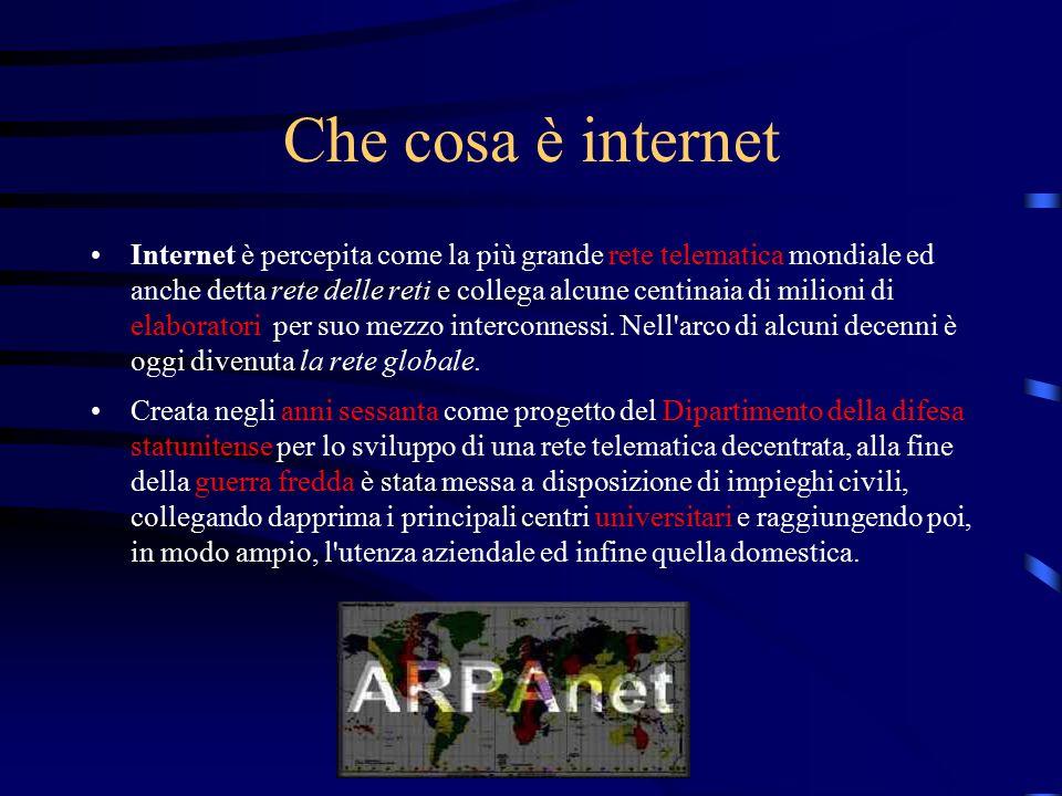 Che cosa è internet