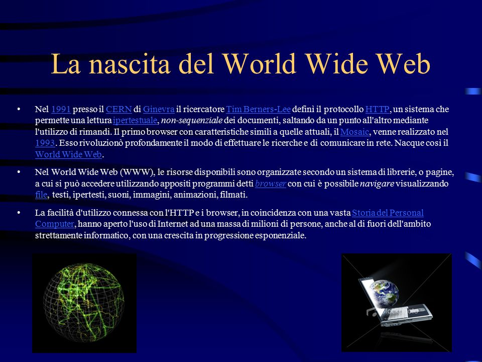 La nascita del World Wide Web