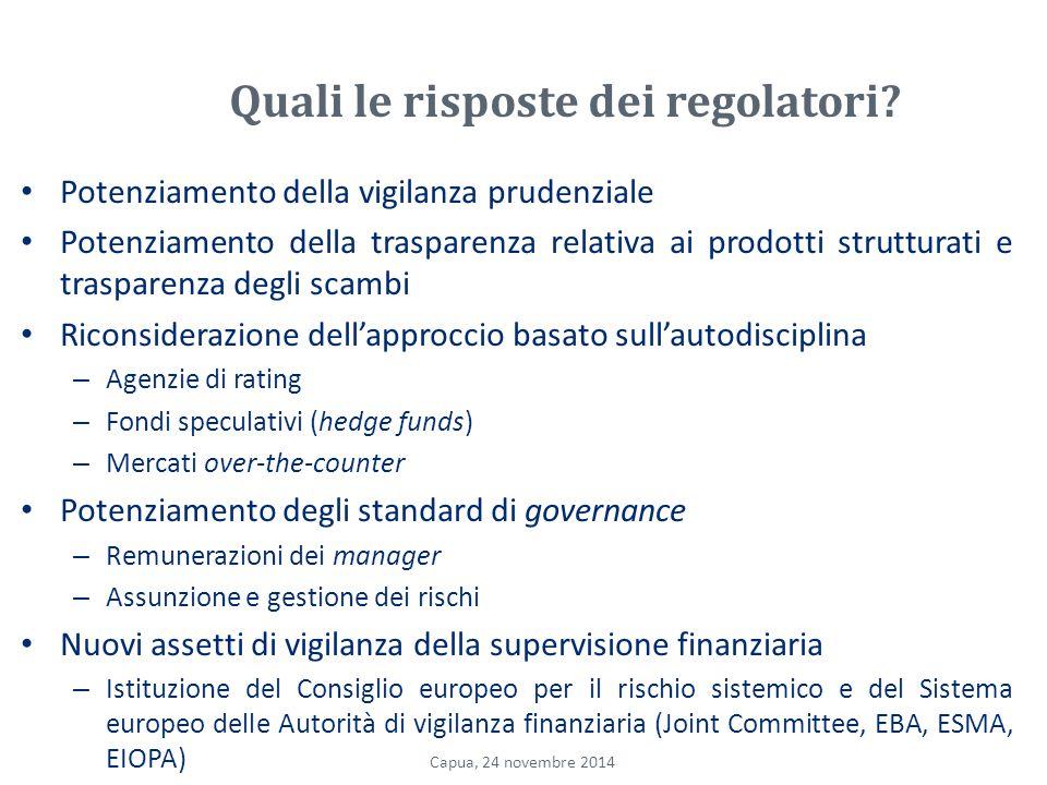Quali le risposte dei regolatori