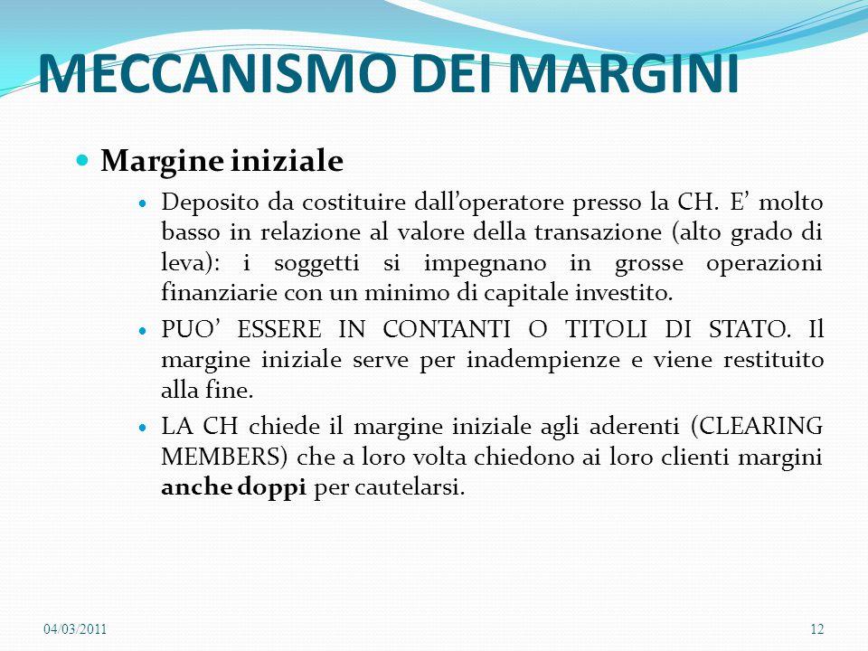 MECCANISMO DEI MARGINI