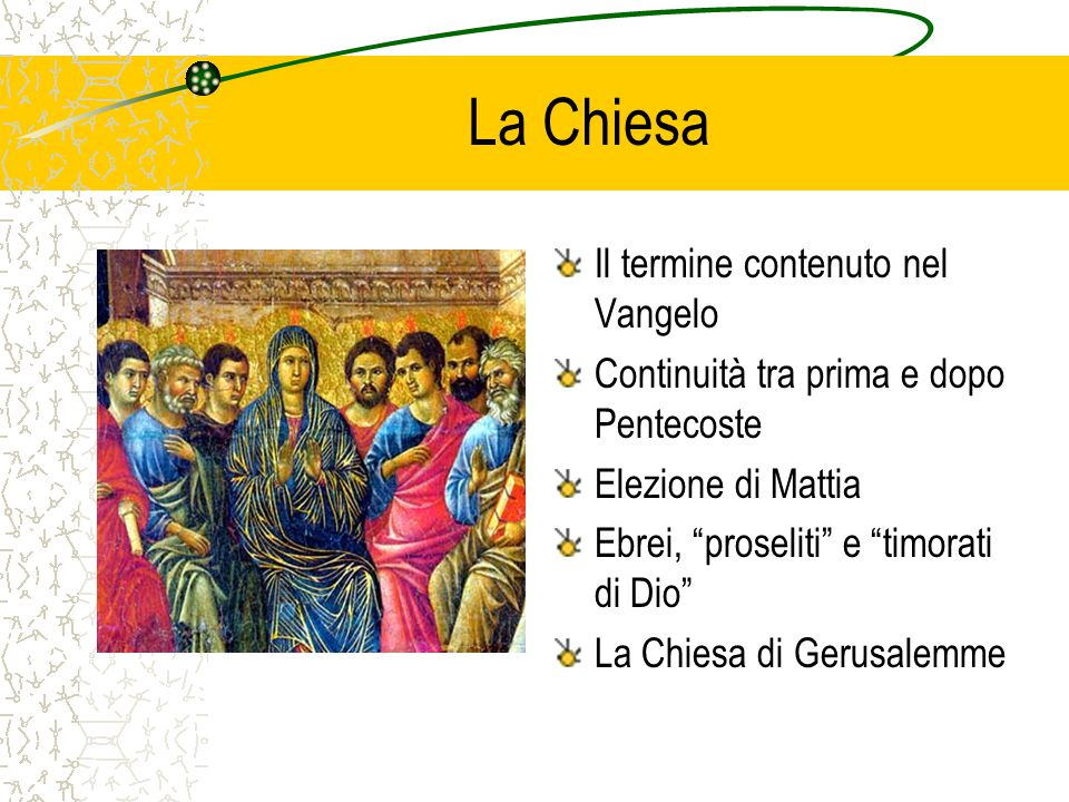 La Chiesa Il termine contenuto nel Vangelo