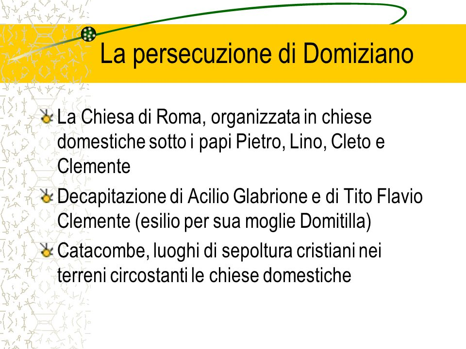 La persecuzione di Domiziano