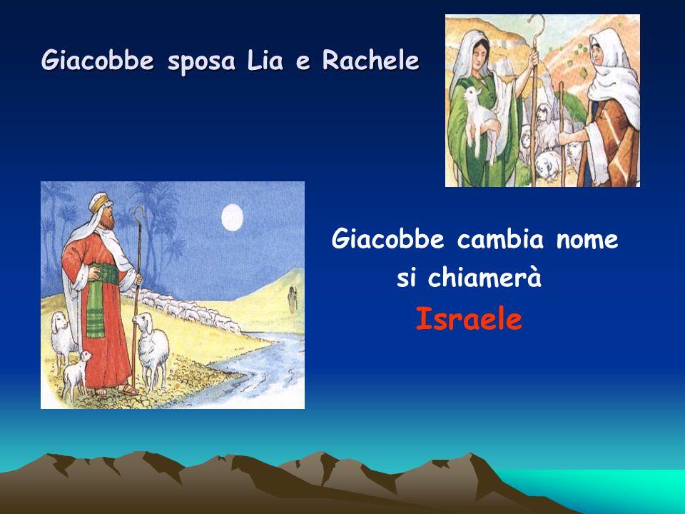 Giacobbe sposa Lia e Rachele