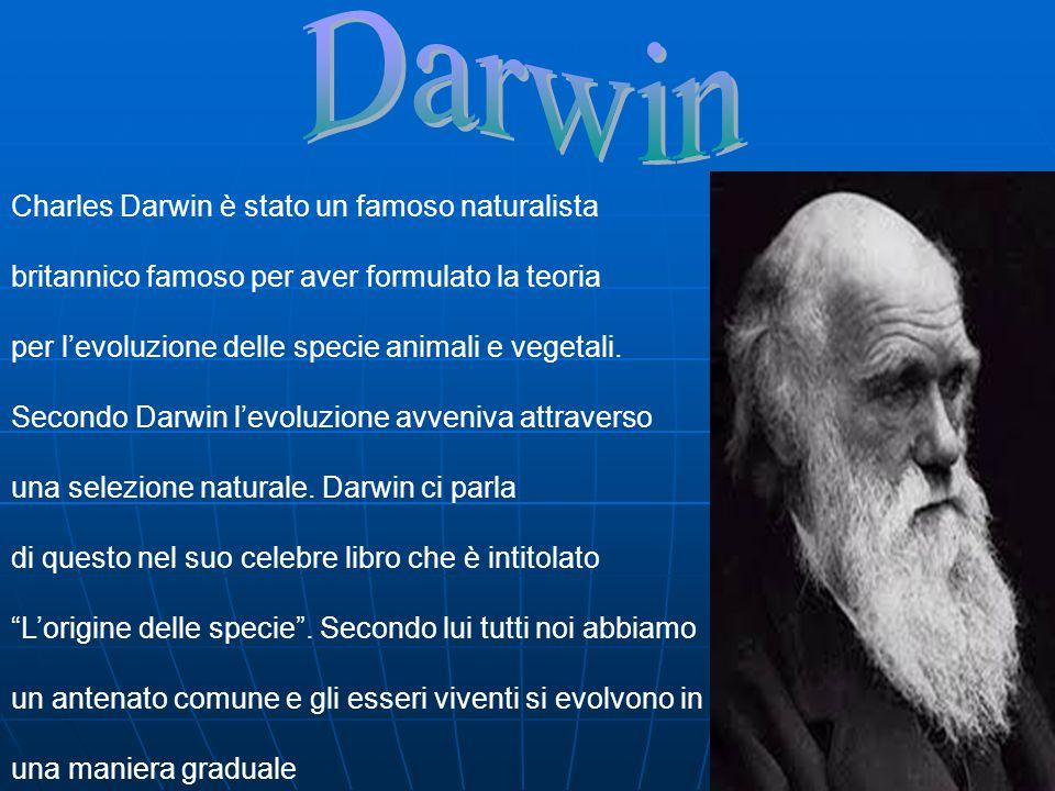 Darwin Charles Darwin è stato un famoso naturalista