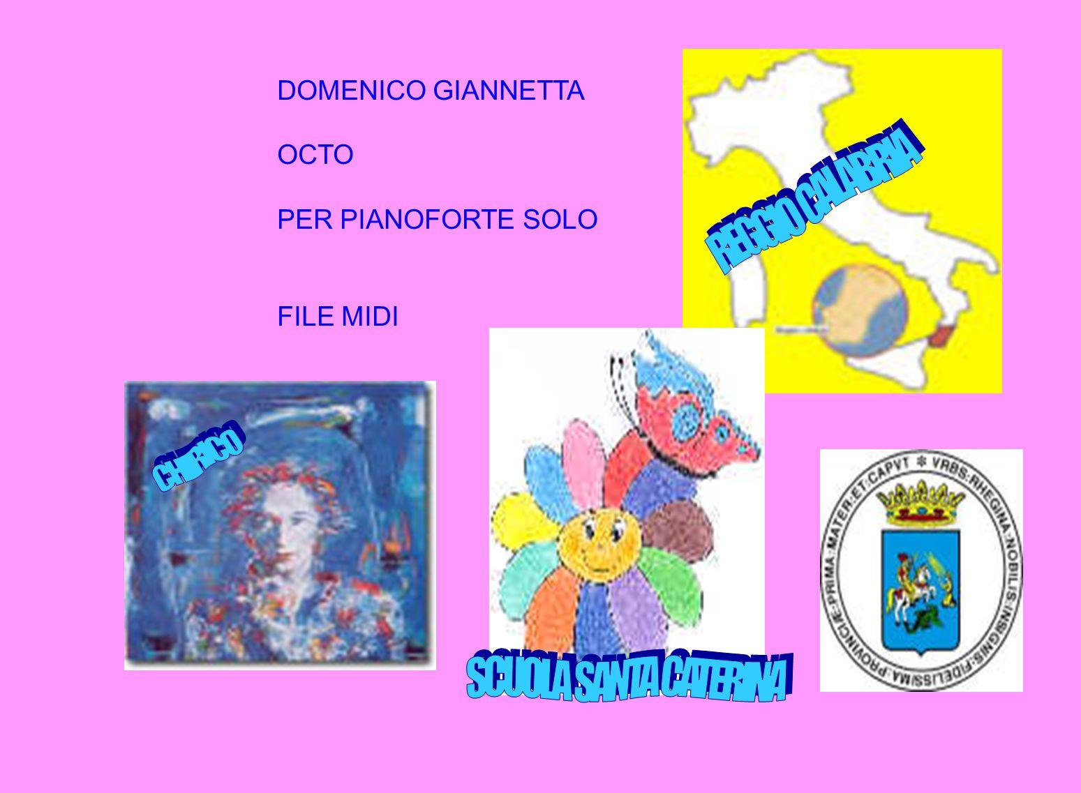 REGGIO CALABRIA CHIRICO SCUOLA SANTA CATERINA DOMENICO GIANNETTA OCTO