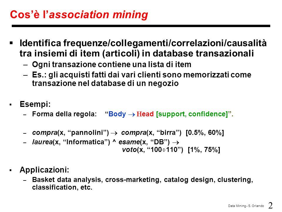 Cos'è l'association mining