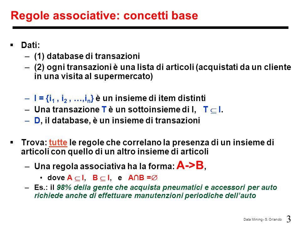 Regole associative: concetti base