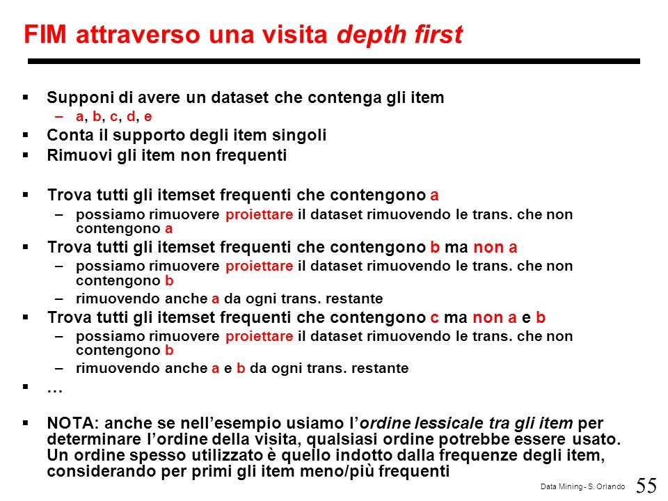 FIM attraverso una visita depth first