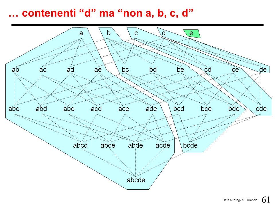 … contenenti d ma non a, b, c, d
