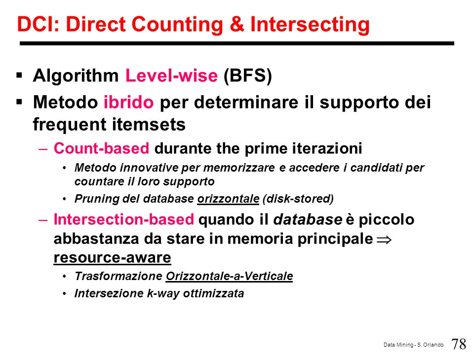 DCI: Direct Counting & Intersecting