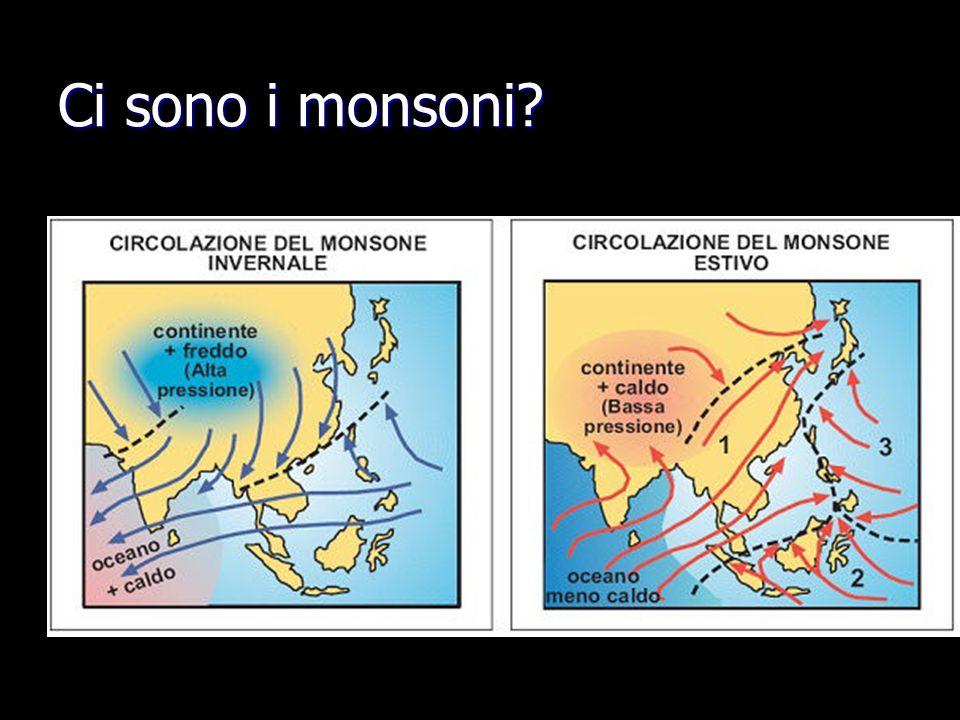 Ci sono i monsoni