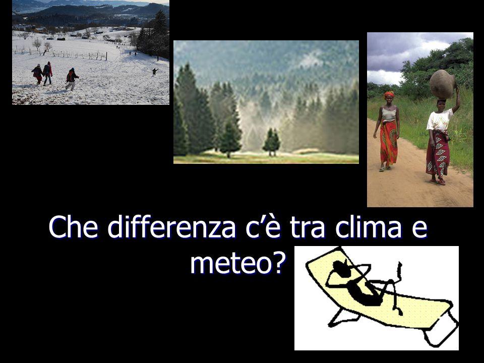Che differenza c'è tra clima e meteo
