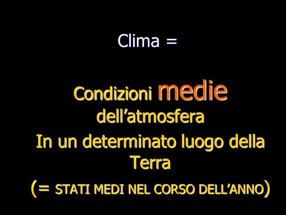 Condizioni medie dell'atmosfera