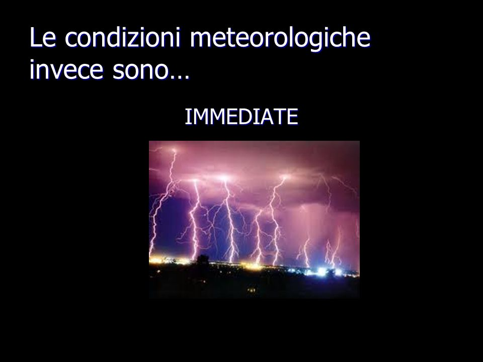Le condizioni meteorologiche invece sono…
