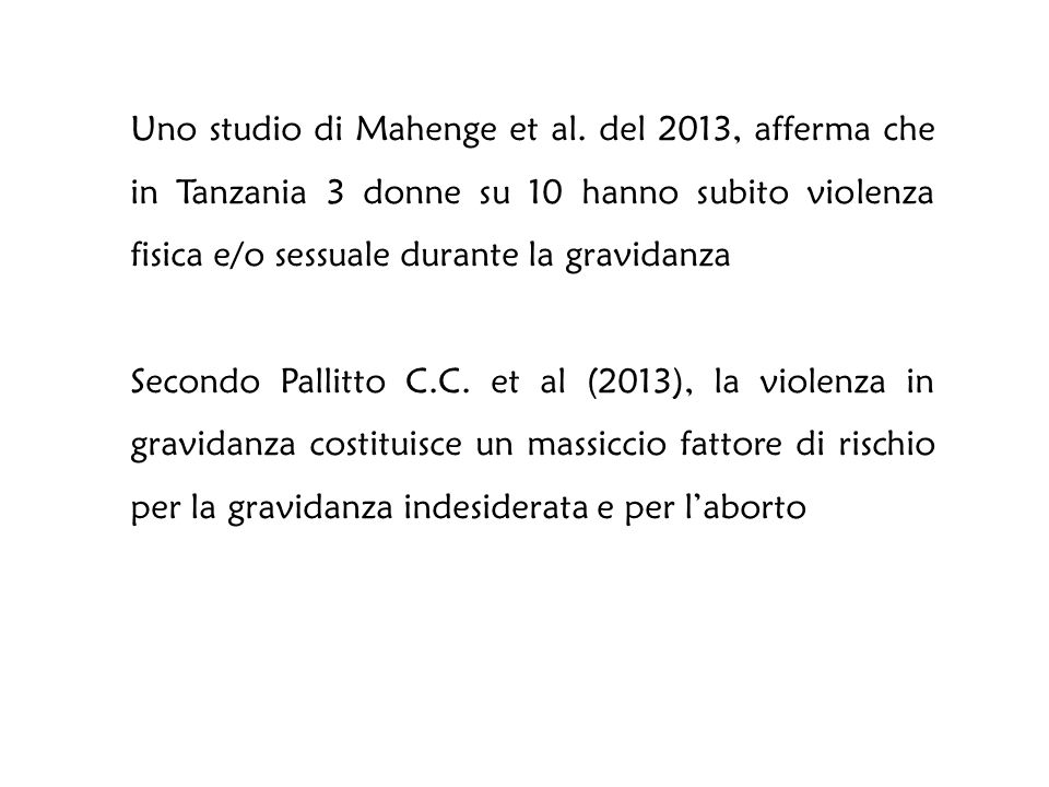 Uno studio di Mahenge et al