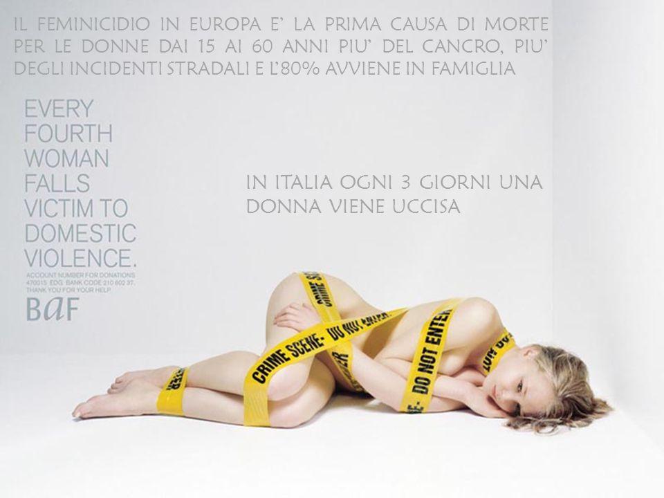 IN ITALIA OGNI 3 GIORNI UNA DONNA VIENE UCCISA