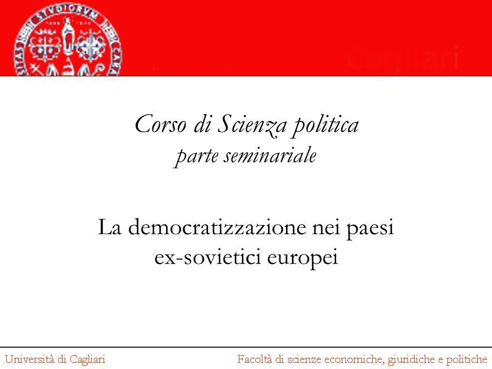 Corso di Scienza politica parte seminariale