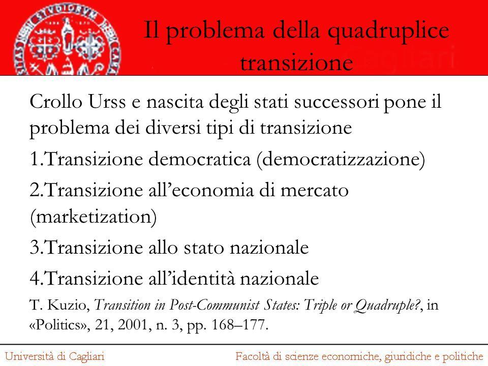 Il problema della quadruplice transizione