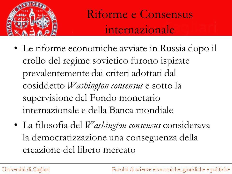 Riforme e Consensus internazionale