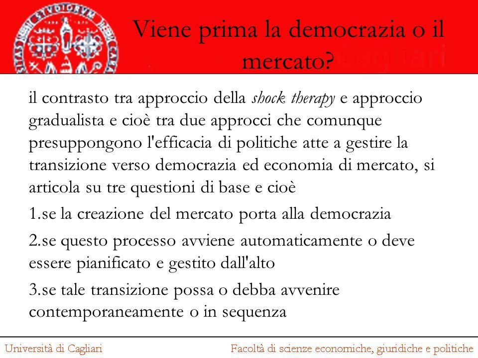 Viene prima la democrazia o il mercato