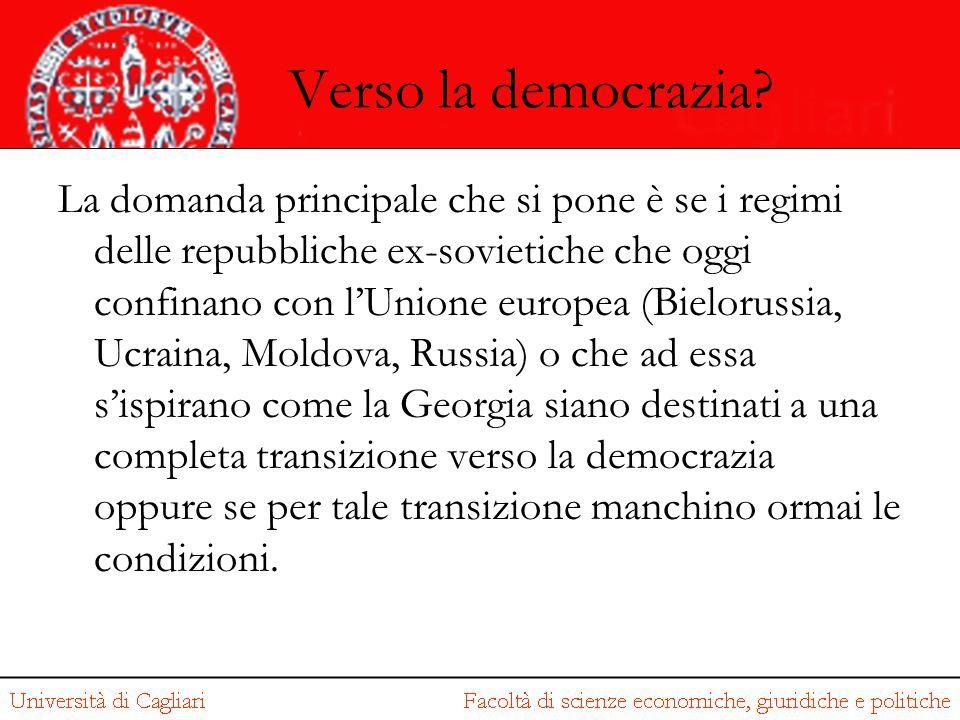 Verso la democrazia