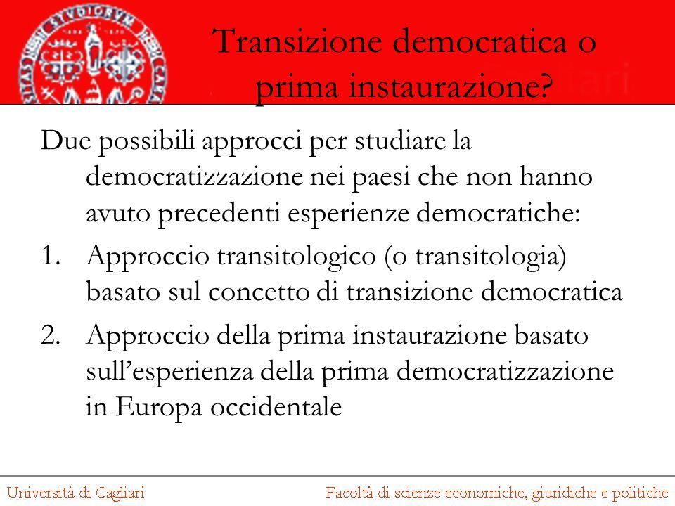 Transizione democratica o prima instaurazione