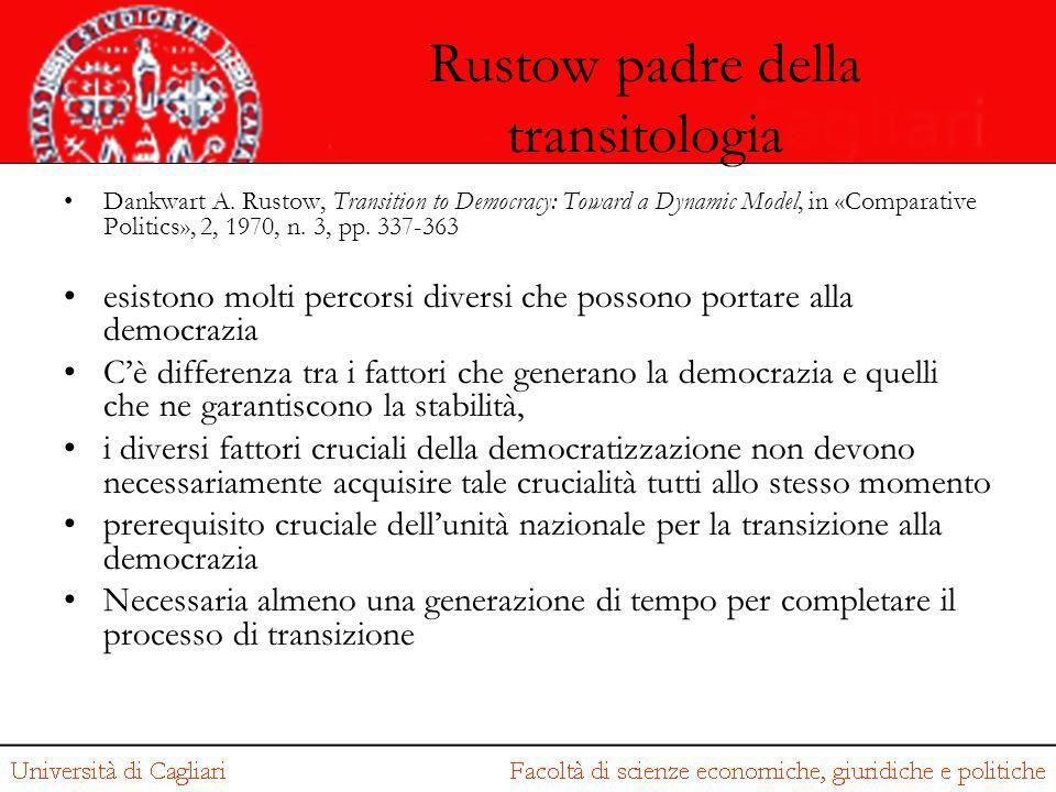 Rustow padre della transitologia