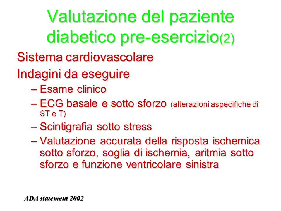 Valutazione del paziente diabetico pre-esercizio(2)