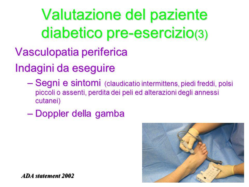 Valutazione del paziente diabetico pre-esercizio(3)