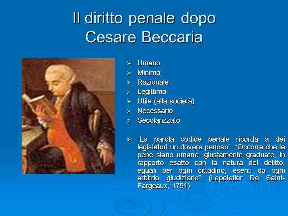 Il diritto penale dopo Cesare Beccaria