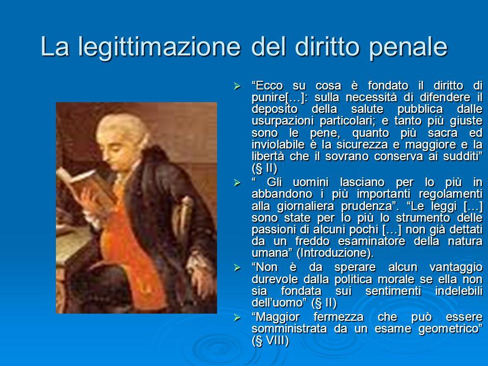 La legittimazione del diritto penale