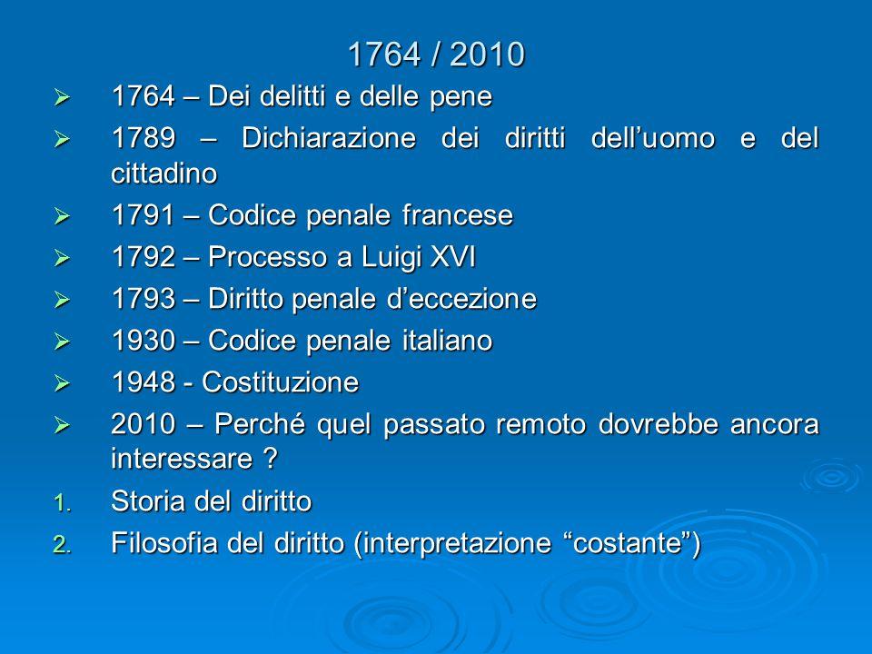 1764 / 2010 1764 – Dei delitti e delle pene
