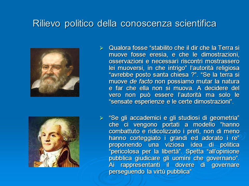 Rilievo politico della conoscenza scientifica