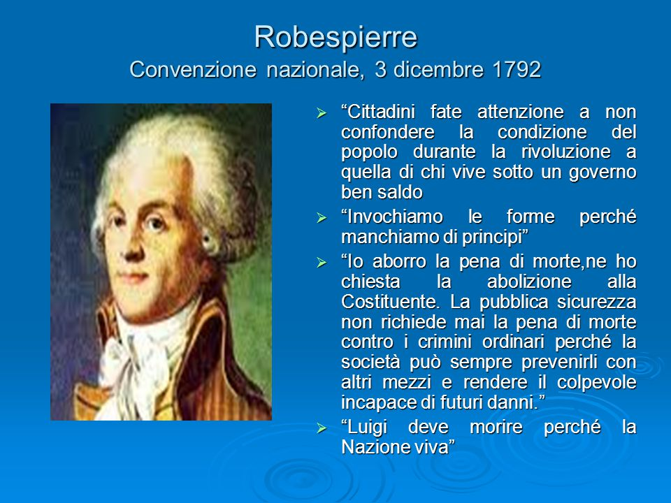 Robespierre Convenzione nazionale, 3 dicembre 1792