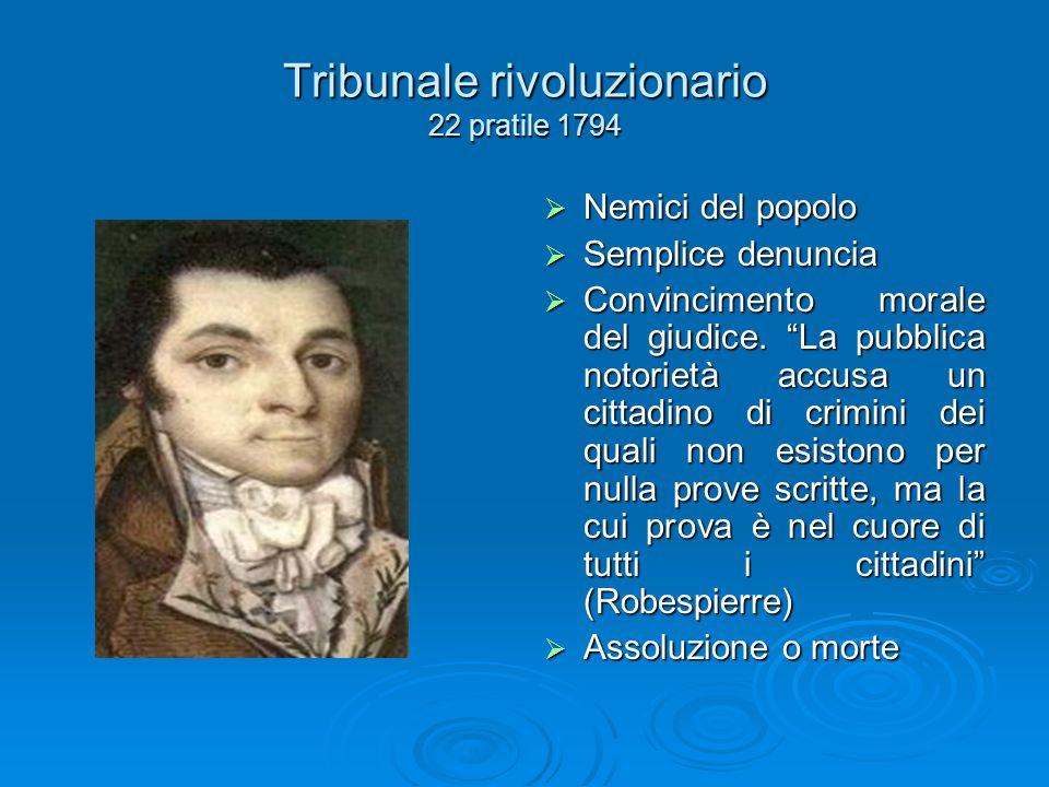 Tribunale rivoluzionario 22 pratile 1794