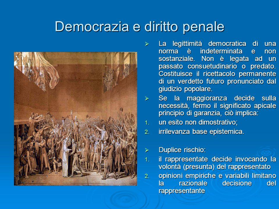 Democrazia e diritto penale