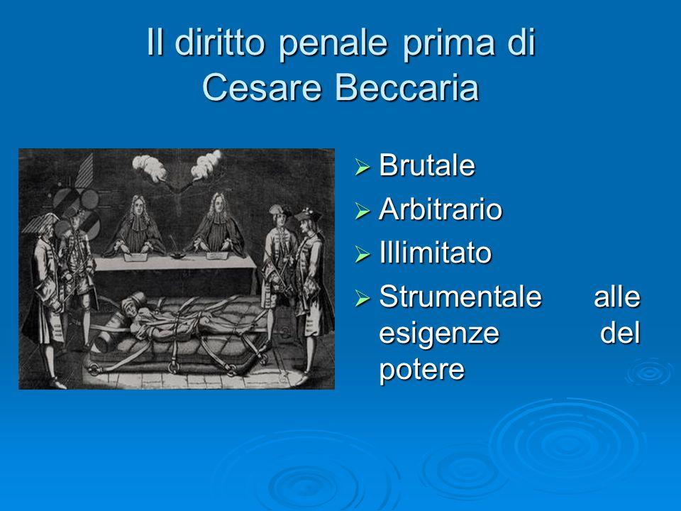 Il diritto penale prima di Cesare Beccaria