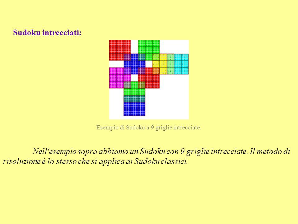 Esempio di Sudoku a 9 griglie intrecciate.