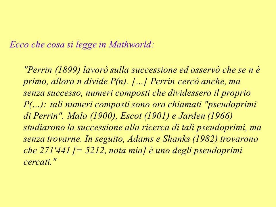 Ecco che cosa si legge in Mathworld: