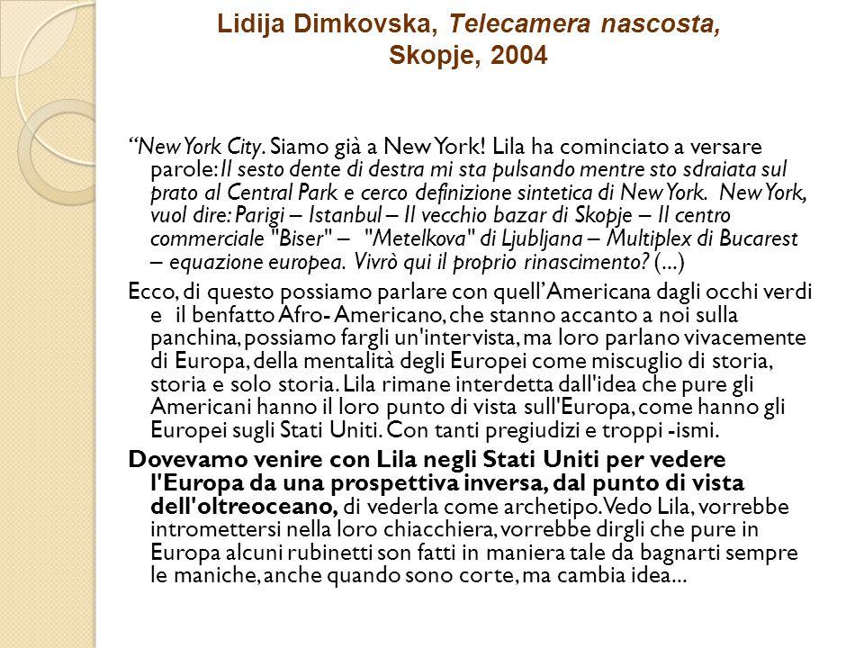 Lidija Dimkovska, Telecamera nascosta, Skopje, 2004