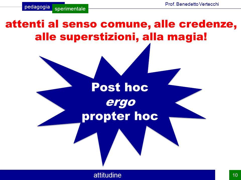 Post hoc ergo propter hoc attenti al senso comune, alle credenze,