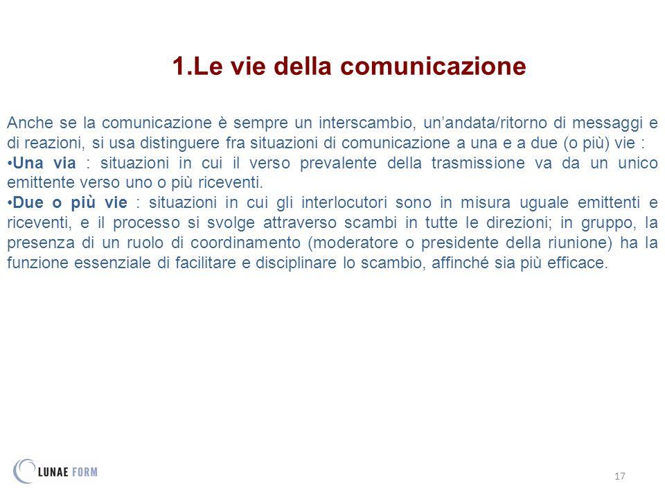 Le vie della comunicazione