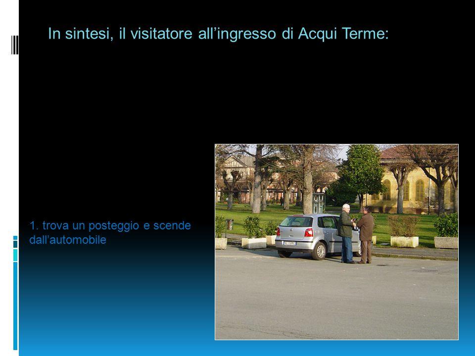 In sintesi, il visitatore all'ingresso di Acqui Terme: