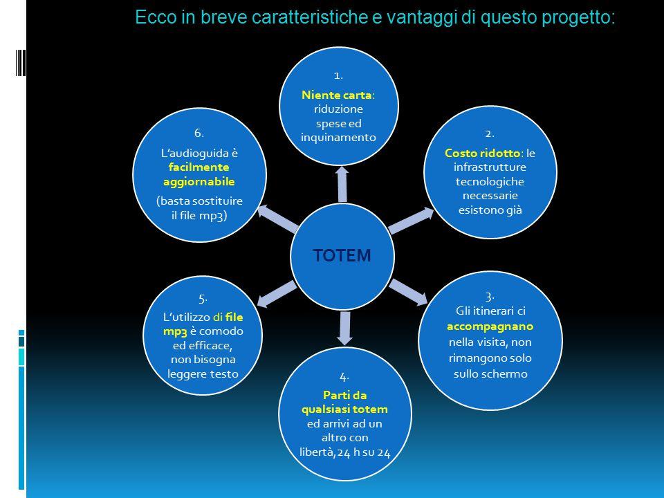 Ecco in breve caratteristiche e vantaggi di questo progetto: TOTEM